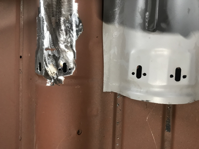 Twin cable holes in floor